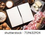 baking background. ingredients...   Shutterstock . vector #719632924