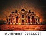 humayun's tomb delhi | Shutterstock . vector #719633794