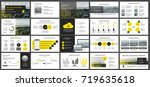 yellow presentation templates... | Shutterstock .eps vector #719635618