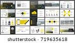 yellow presentation templates...   Shutterstock .eps vector #719635618