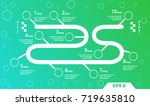 road timeline infographic... | Shutterstock .eps vector #719635810