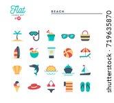 tropical beach  summer ... | Shutterstock .eps vector #719635870