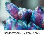 amethyst is a violet variety of ... | Shutterstock . vector #719637268