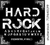 font handcrafted vector script... | Shutterstock .eps vector #719640199