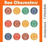 boo characters. monster big set.... | Shutterstock .eps vector #719641840