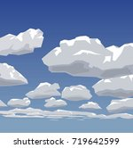 the clouds against the sky | Shutterstock .eps vector #719642599