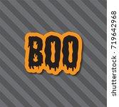 halloween holiday background.... | Shutterstock .eps vector #719642968