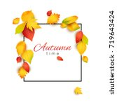 vector square frame decorated... | Shutterstock .eps vector #719643424