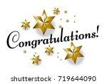 congratulations  beautiful... | Shutterstock .eps vector #719644090