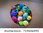 colorful easter eggs  | Shutterstock . vector #719646490
