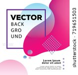 vector design template   modern ... | Shutterstock .eps vector #719651503