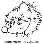 black and white cartoon vector... | Shutterstock .eps vector #719652826