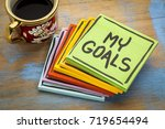 my goals    handwriting in... | Shutterstock . vector #719654494