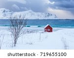 a typical house of the... | Shutterstock . vector #719655100