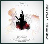 dancing people  party background | Shutterstock .eps vector #719655550