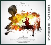 dancing people  party background | Shutterstock .eps vector #719655556