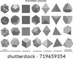 3d illustration of platonic... | Shutterstock . vector #719659354