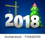 3d illustration of 2018 year...   Shutterstock . vector #719660350