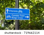 blue london network cycle sign... | Shutterstock . vector #719662114