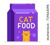 cat food bag. pet toys...   Shutterstock .eps vector #719663098