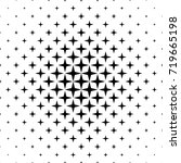 monochromatic star pattern  ... | Shutterstock .eps vector #719665198