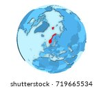 norway highlighted in red on...   Shutterstock . vector #719665534