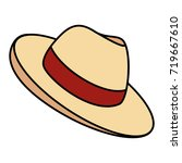 male hat summer icon | Shutterstock .eps vector #719667610