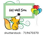 get well soon | Shutterstock .eps vector #719670370