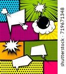vertical pop art comics book... | Shutterstock .eps vector #719671348
