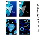 abstract flyer or cover designs  | Shutterstock .eps vector #719671393