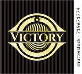 victory shiny badge | Shutterstock .eps vector #719671774