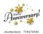 happy anniversary beautiful... | Shutterstock .eps vector #719673550