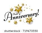 happy anniversary beautiful... | Shutterstock .eps vector #719673550