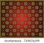 background pattern in thai style   Shutterstock .eps vector #719676199