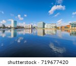 riverbank of river lagan... | Shutterstock . vector #719677420