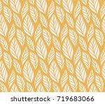vector illustration of leaves... | Shutterstock .eps vector #719683066