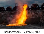 industrial landscape. domestic...   Shutterstock . vector #719686780