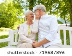 old age  relationship and... | Shutterstock . vector #719687896