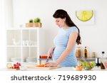 healthy eating  pregnancy  food ... | Shutterstock . vector #719689930