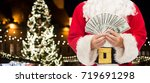 holidays  finances and people... | Shutterstock . vector #719691298