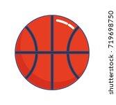 basketball ball icon  | Shutterstock .eps vector #719698750