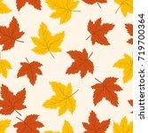 autumn leaves seamless pattern. ... | Shutterstock .eps vector #719700364