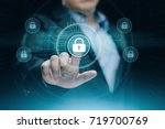 cyber security data protection... | Shutterstock . vector #719700769