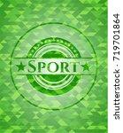 sport green mosaic emblem | Shutterstock .eps vector #719701864