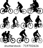 bicyclists silhouettes... | Shutterstock .eps vector #719702626