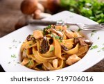 Tagiatelle Pasta With Creamy...