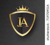 initial logo letter ja with... | Shutterstock .eps vector #719709514