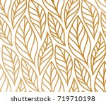 vector illustration of leaves... | Shutterstock .eps vector #719710198