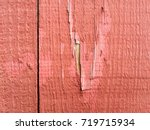 close up detail of a rustic red ... | Shutterstock . vector #719715934