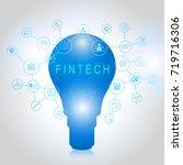 fin tech investment financial...   Shutterstock .eps vector #719716306